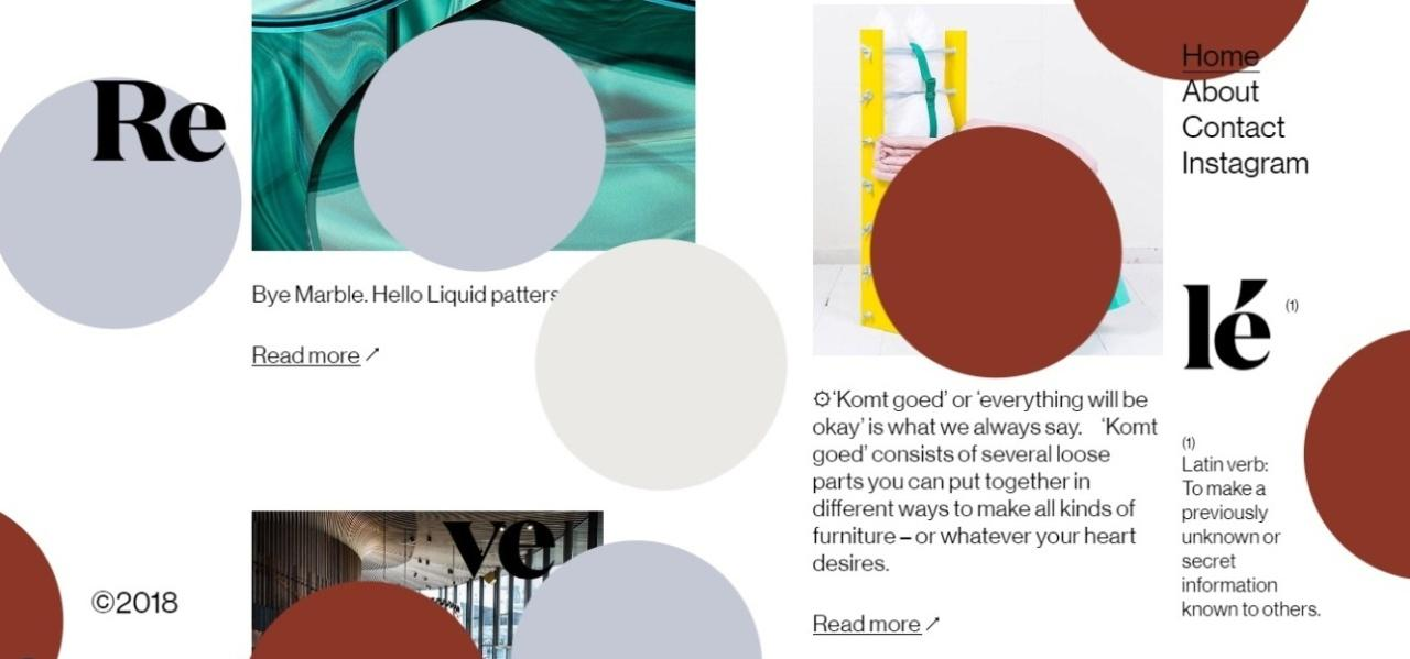 Website Design Trends - Asymmetry and Broken Grids